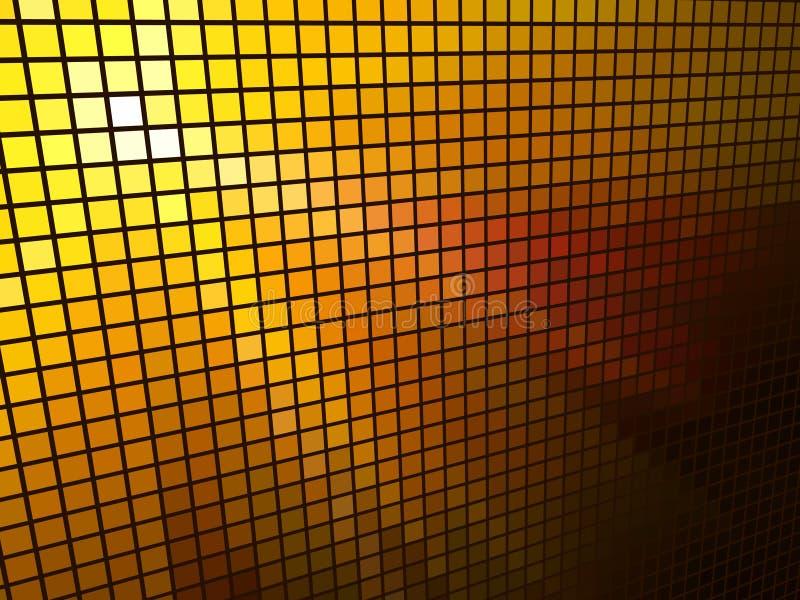 Abstract  orange light mosaic