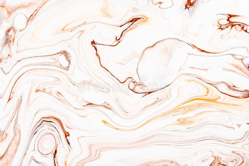 Abstract orange marble, granite fluid texture. Natural stone, resin art modern artwork wallpaper. royalty free stock image