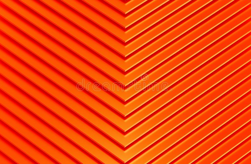The abstract orange metal pattern background. 3D illustration.  vector illustration