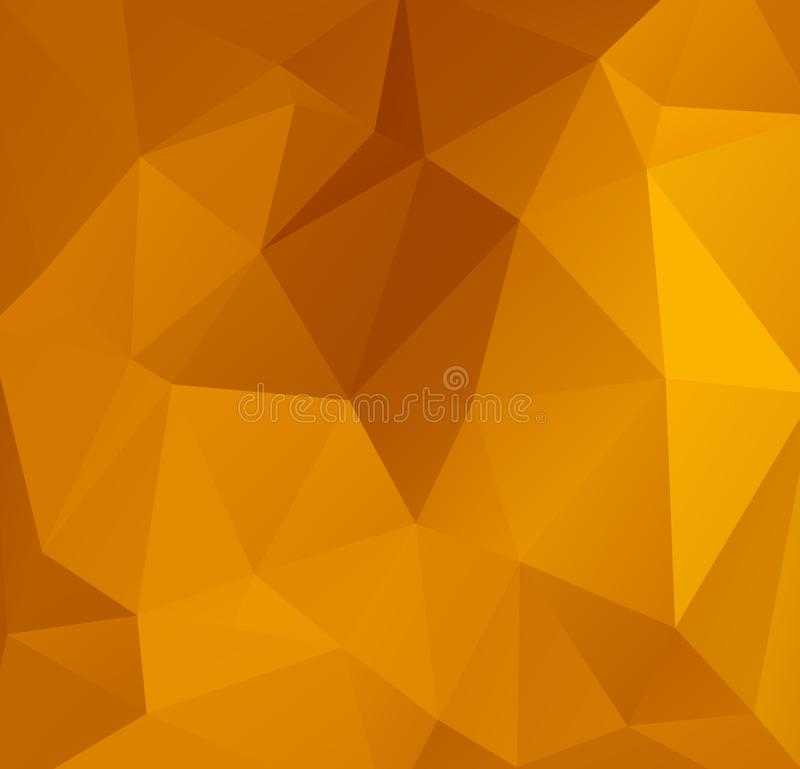 Abstract Orange Polygonal Mosaic Background, Creative Design Templates. Abstract Dark Orange polygonal pattern, which consist of t. Riangles. Geometric royalty free illustration