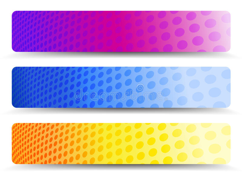 Abstract Orange Purple and Blue Web Banners Background stock illustration