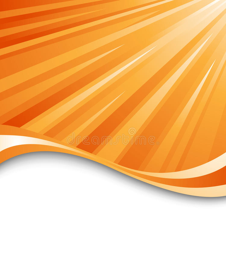 Abstract orange ray background. Clip-art stock illustration