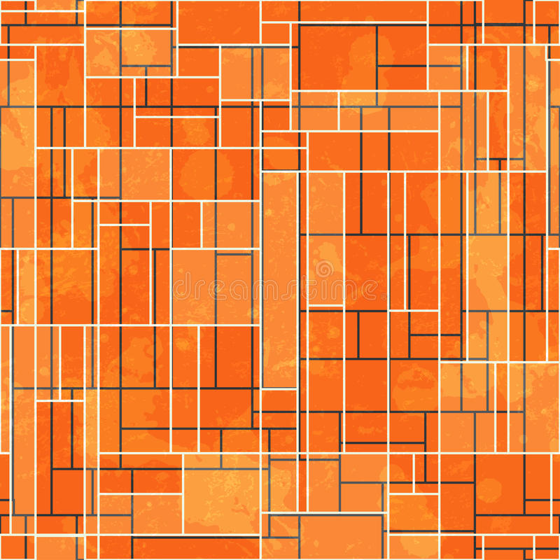 Download Abstract Orange Rectangle Seamless Pattern With Grunge Effect Stock Vector - Image: 33044522