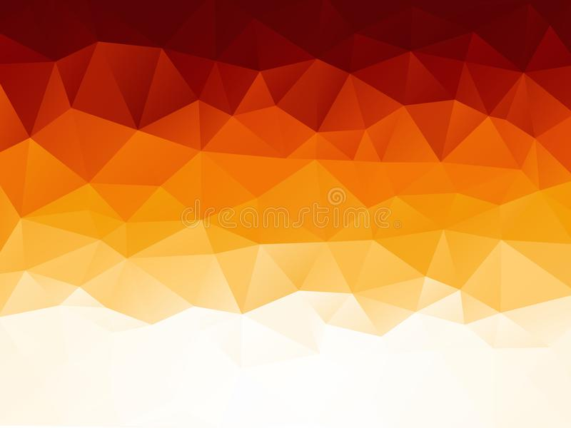 Abstract orange red geometric texture pattern stock illustration
