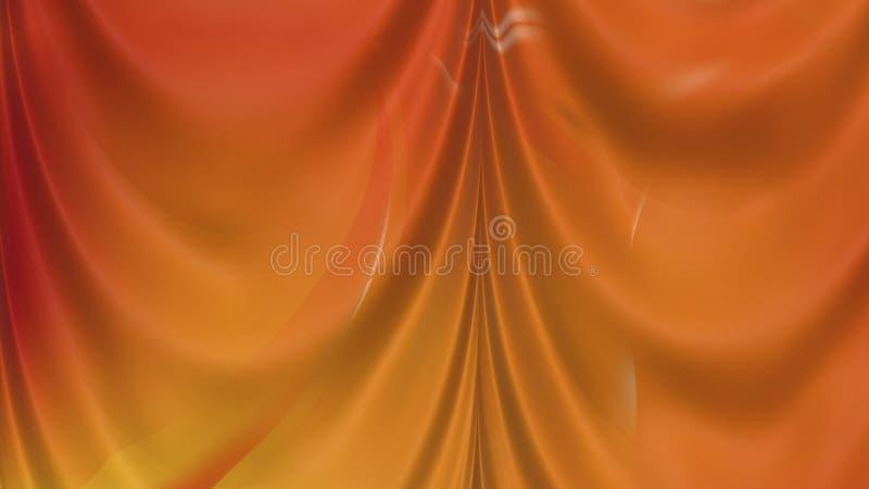 Abstract Orange Satin Drapes Beautiful elegant Illustration graphic art design Background. Image royalty free illustration