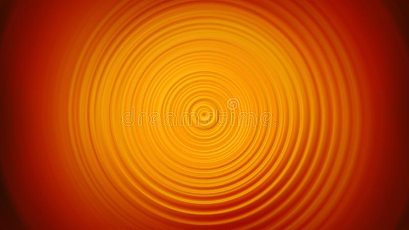 Abstract orange Spin Circle Radial Motion Blur background stock illustration