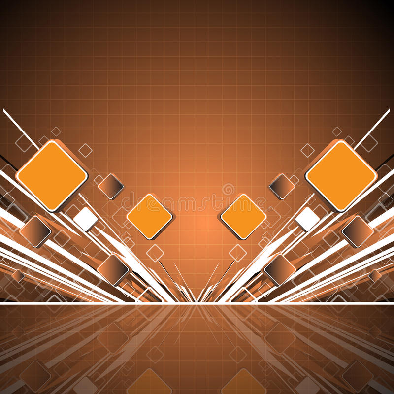 Abstract orange square background royalty free illustration