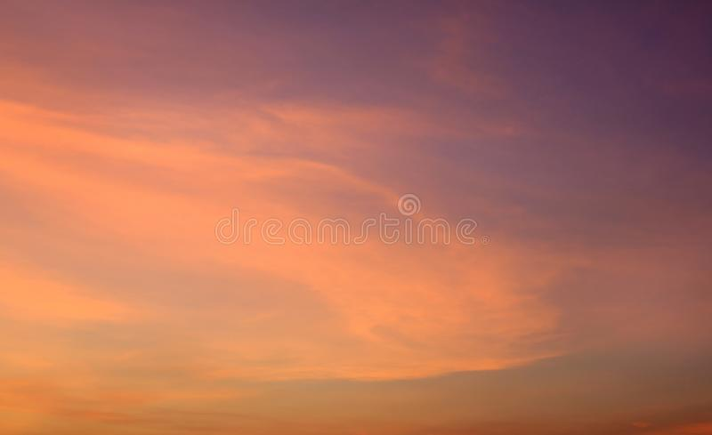 Abstract orange sunset sky background.  royalty free stock images