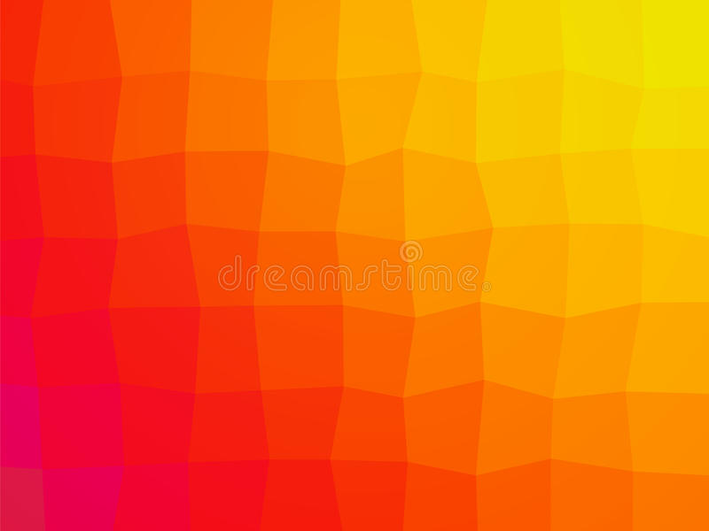 Abstract orange tile background stock illustration