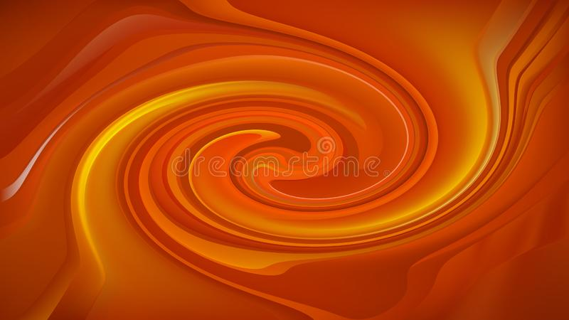 Abstract Orange Twirl Background royalty free illustration