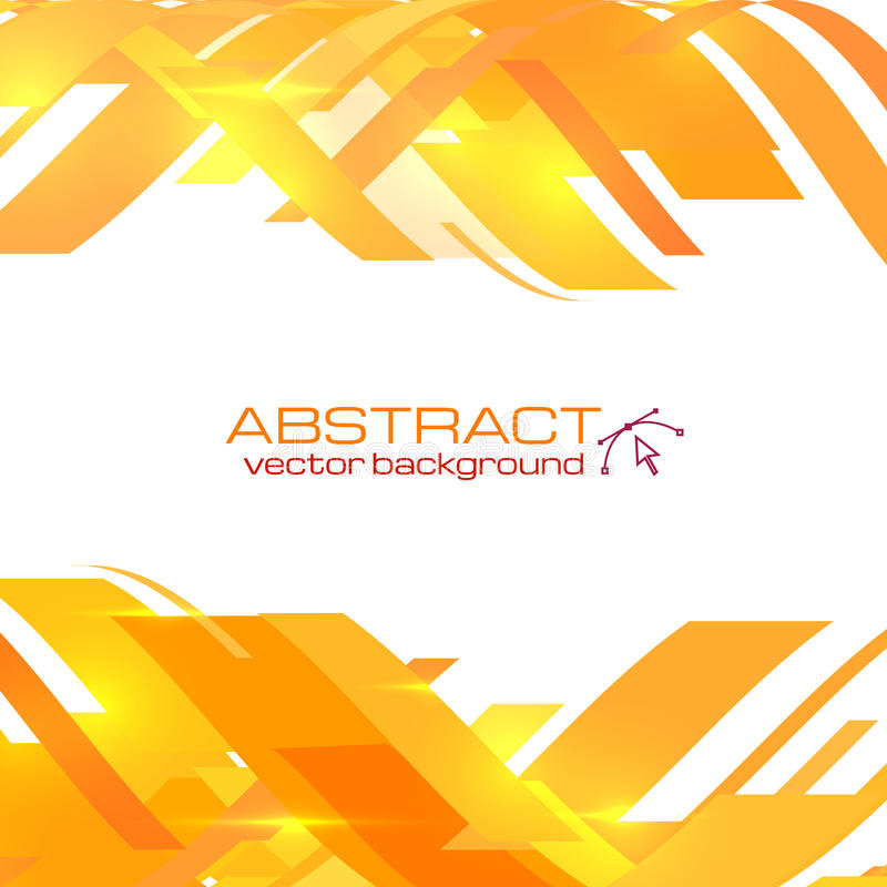 Abstract Orange Vector Background Stock Vector