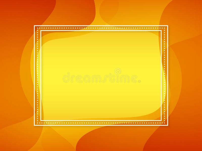 Abstract orange vector background. stock illustration