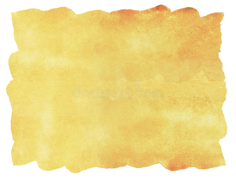 Abstract orange watercolor background. stock illustration