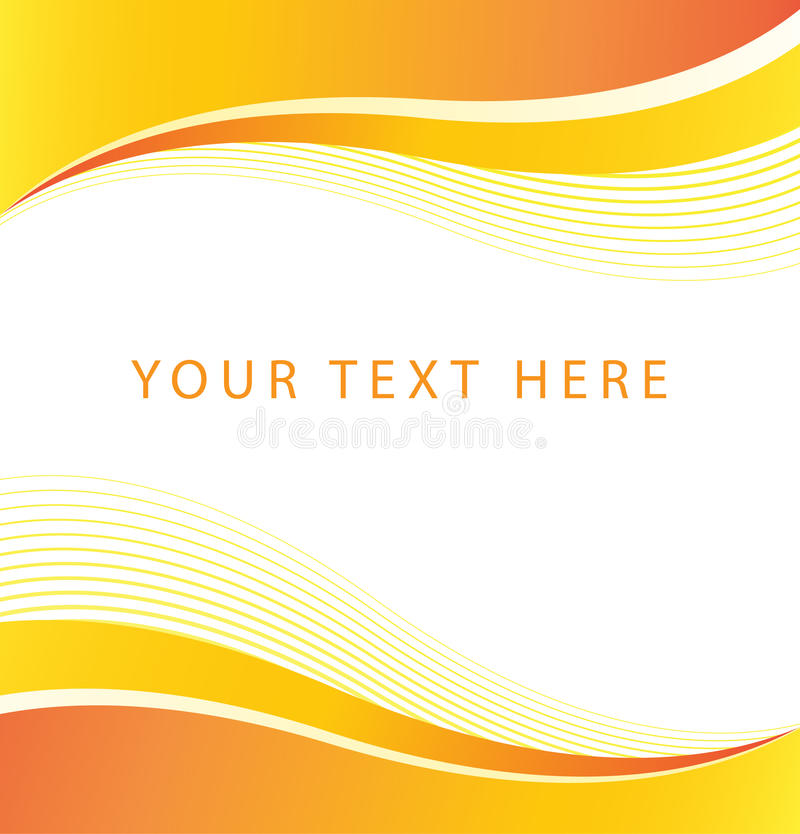 Abstract Orange Wave Border Background royalty free illustration
