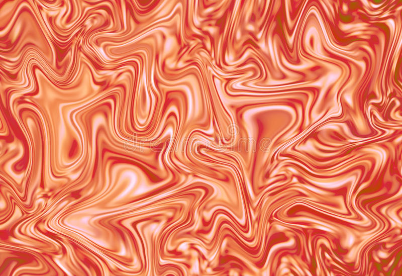 Abstract orange and white background. Marble texture digital illustration. Marbling effect for backdrop, wedding invitation, identity or food design stock illustration