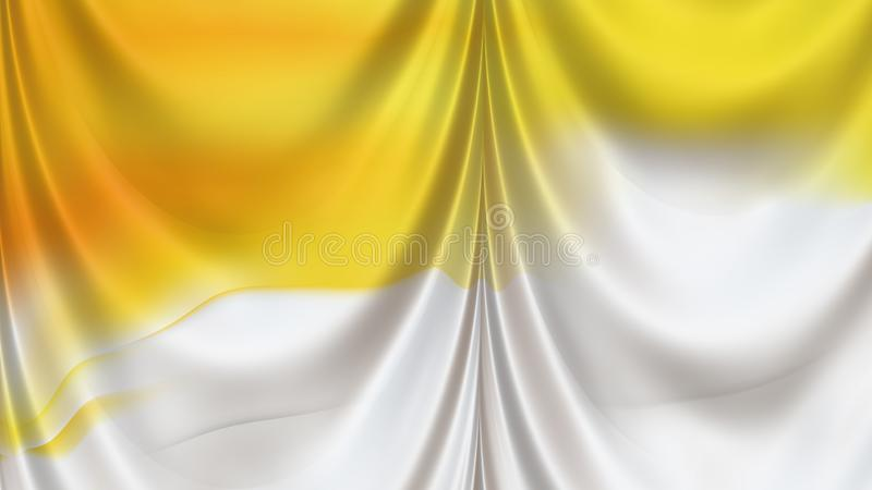 Abstract Orange and White Silk Drapery Background vector illustration