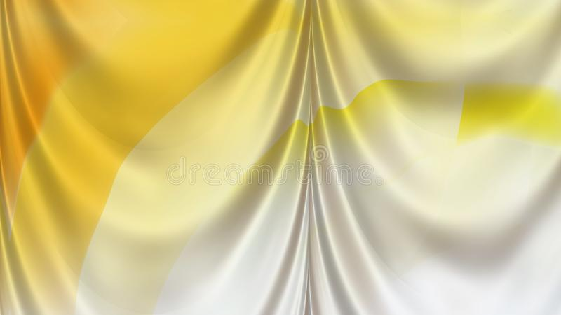 Abstract Orange and White Silk Drapery Background Beautiful elegant Illustration graphic art design Background stock illustration