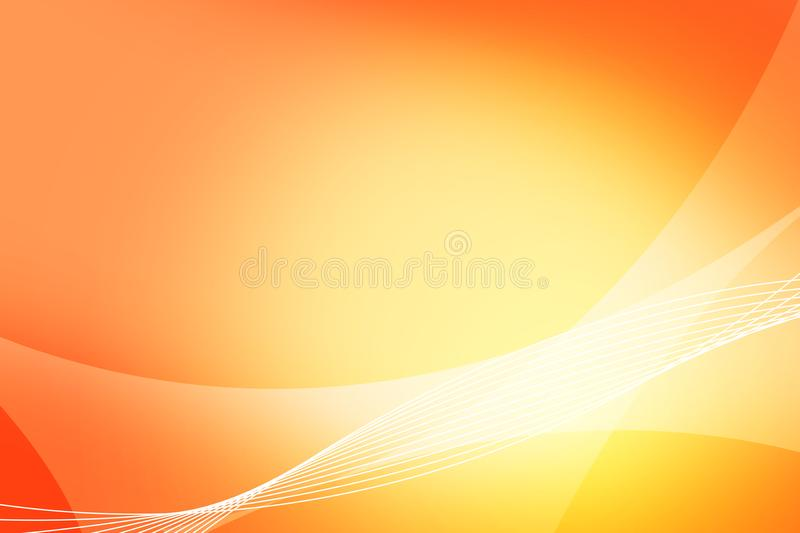 Abstract orange and yellow background of abstract warm curves wave line overlay. Orange technology abstract background style stock images