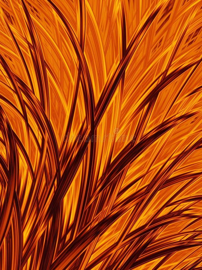 Abstract orange yellow bush background. Halloween autumn pattern. Template. vector illustration