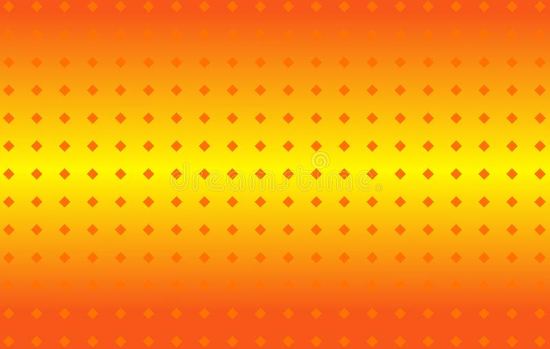 Abstract orange yellow gradient light string vector background. Abstract orange yellow gradient light string with a dotted texture, summery warm vector stock illustration