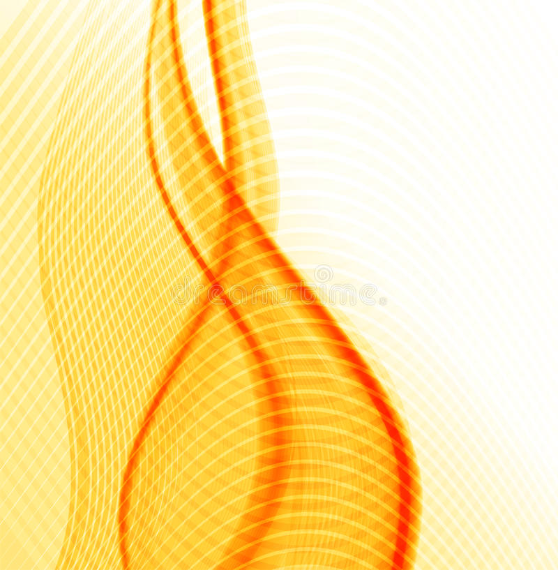 Abstract orange, yellow and white background stock illustration