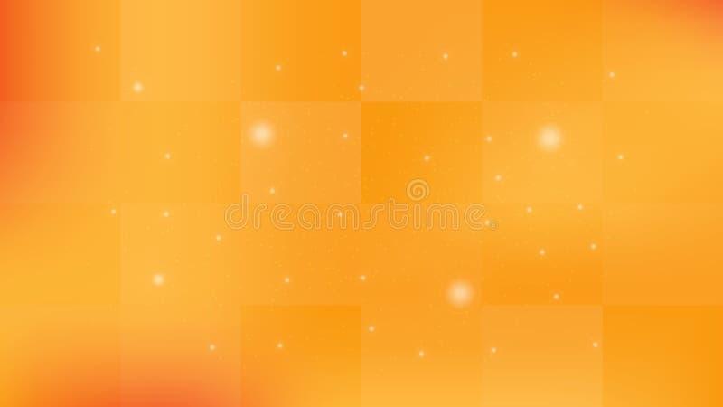 Abstract oranje tonen als achtergrond en mozaïekpatroon royalty-vrije illustratie