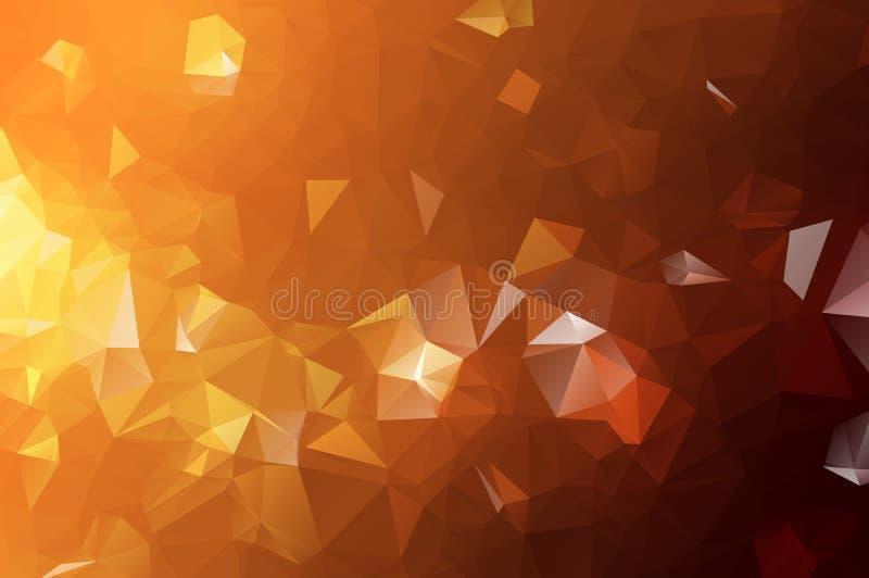 Abstract Oranje veelhoekig patroon, wat uit driehoeken bestaan Geometrische achtergrond in Origamistijl met gradiënt Driehoekige  vector illustratie