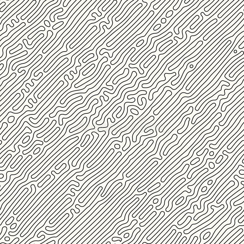 Free Abstract Organic Background, Natural Maze Labyrinth, Reaction Diffusion Pattern, Black And White Organic Shapes Stock Photo - 191770110