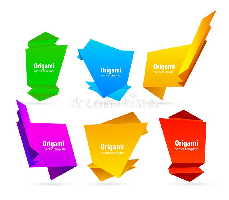 Download Abstract origami stock vector. Illustration of bright - 18780396