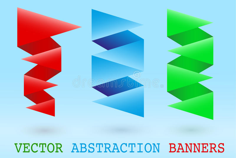 Download Abstract origami banner stock vector. Image of sign, illustration - 32105387