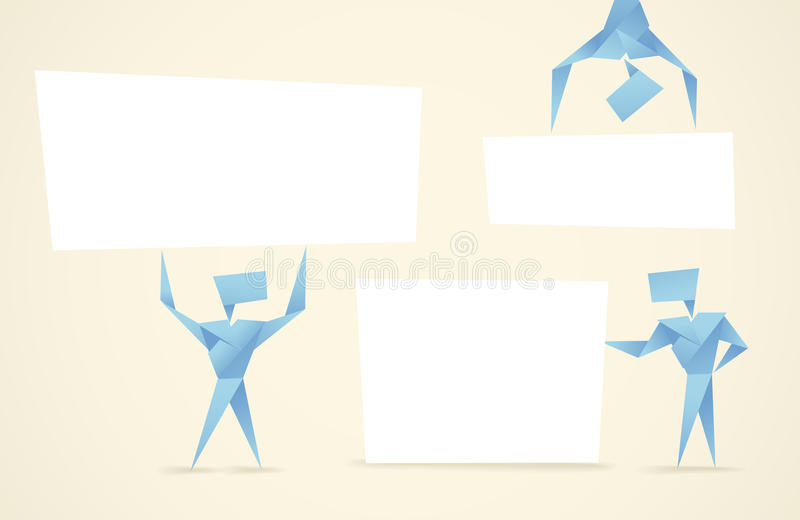 Download Abstract Origami Men Stock Vector Illustration Of Banner