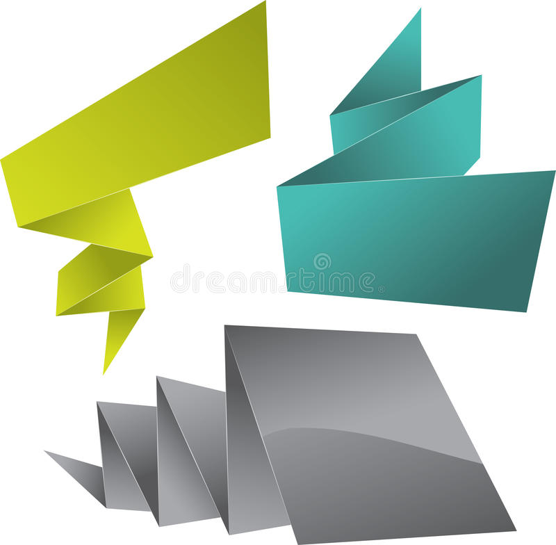Abstract origami speech bubble background stock illustration