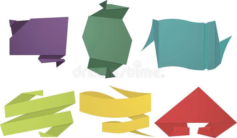 Abstract Origami Speech Bubble stock image