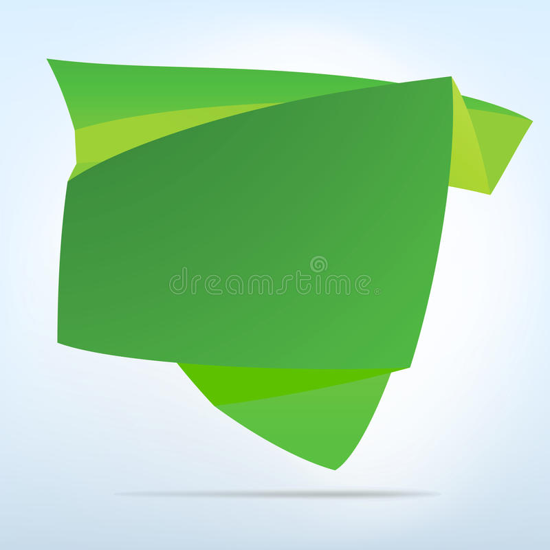 Abstract origami speech bubble. EPS 8 royalty free illustration