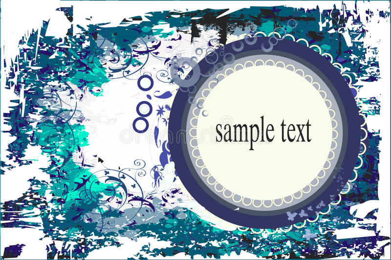 Abstract ornament. Backgrounds on abstract and grunge elements with ornament shapes.This file have additional file in cdr format royalty free illustration