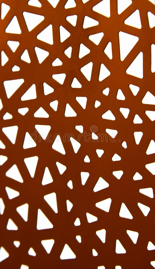 Abstract ornament of red paper. On white background royalty free stock image