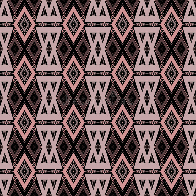 Download Abstract Ornament Seamless Geometrical Pattern On Black Stock Illustration - Image: 42107992
