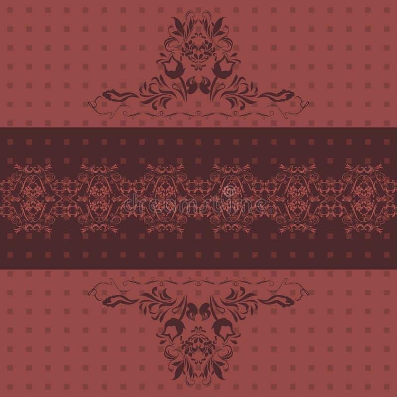 Abstract ornamental dark ruby background. Illustration stock illustration