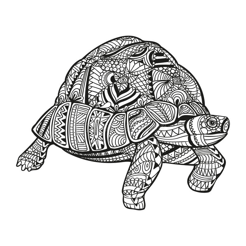 abstract ornamental turtle stock illustration
