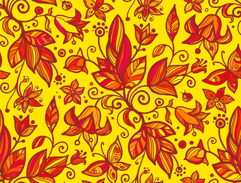 Download Abstract Ornate Shining Flower Seamless Pattern Stock Illustration - Image: 28755713