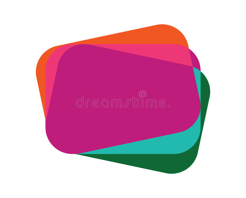 Download Abstract Overlapping Colored Card Stock Vector - Image: 83723850