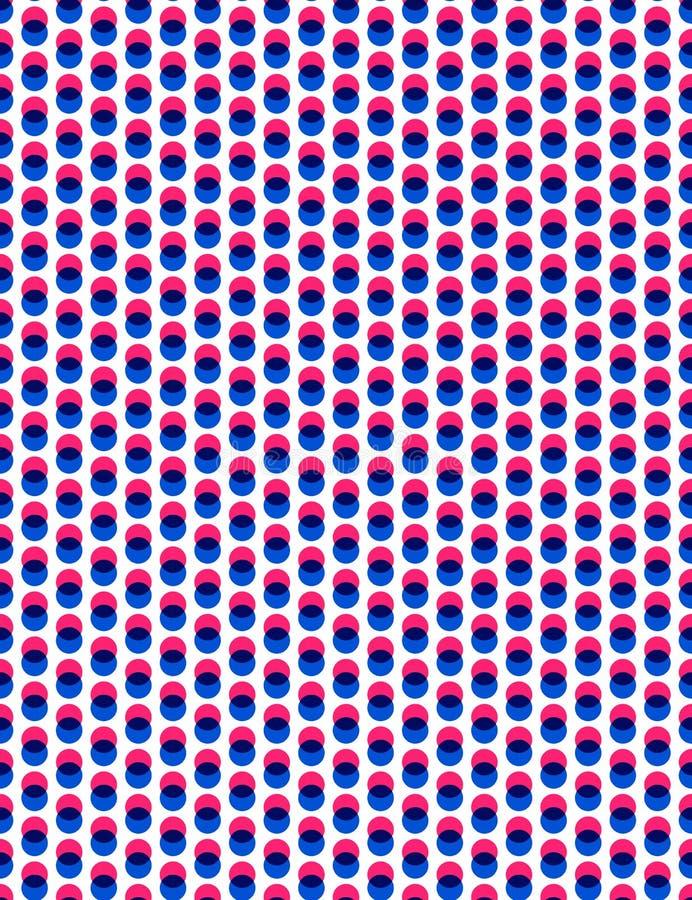 Abstract overlay polka dot seamless background.  royalty free illustration