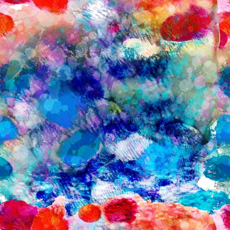 Abstract overzees naadloos patroon. Vector, EPS 10 vector illustratie