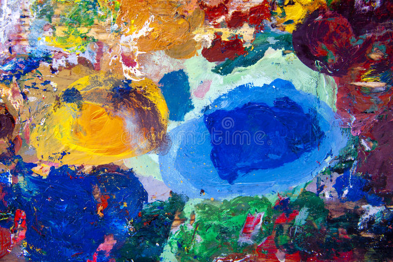 Abstract paint. A colourful abstract painting that will work well as a background or backdrop stock images