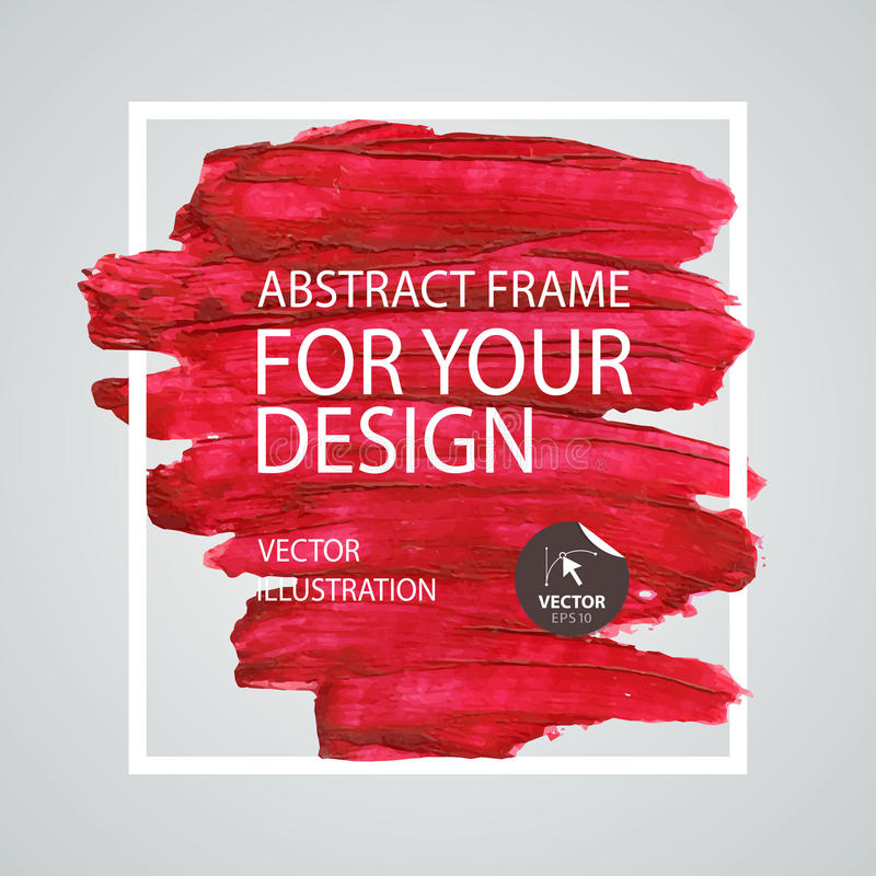 Abstract paint brush stroke frame. Poster Template. Vector design royalty free illustration
