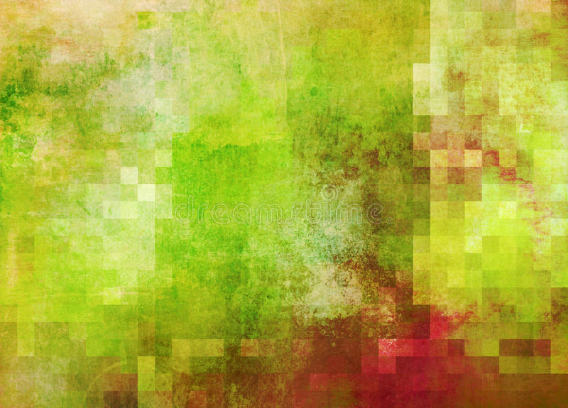 Abstract Paint Gradient With Square Grid Added Stock Illustration