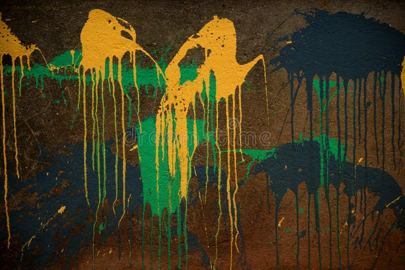 Abstract Paint On Wall. Abstract Different Color Paint On Grunge Wall stock photography