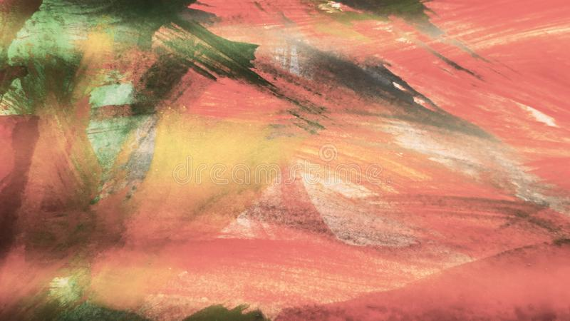 Abstract Painted background. Colorful Fluid effects. Grunge patches scattered on background. Good for :Wall Art, Cards, decor. Grungy artwork for creative stock image