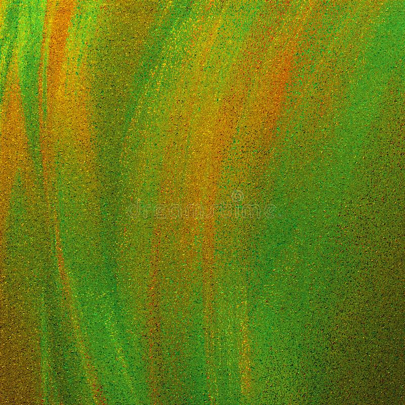 Colorful abstract hand drawn painted ink brush strokes artwork. Glitter pasted on bright surface. Artistic beautiful design. Abstract painted ink brush strokes stock photos