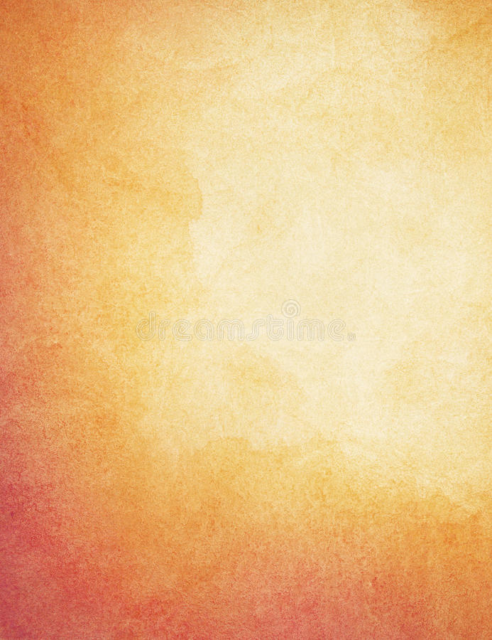 Abstract painted, orange watercolor background stock photography